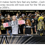 Saints fans disappointed