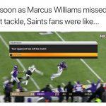 Saints fans logging out