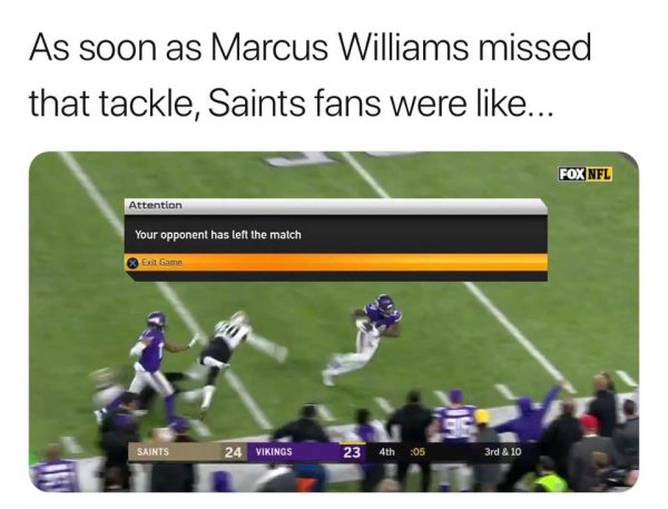 Saints fans logging out