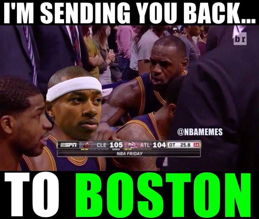 Sending you back to Boston
