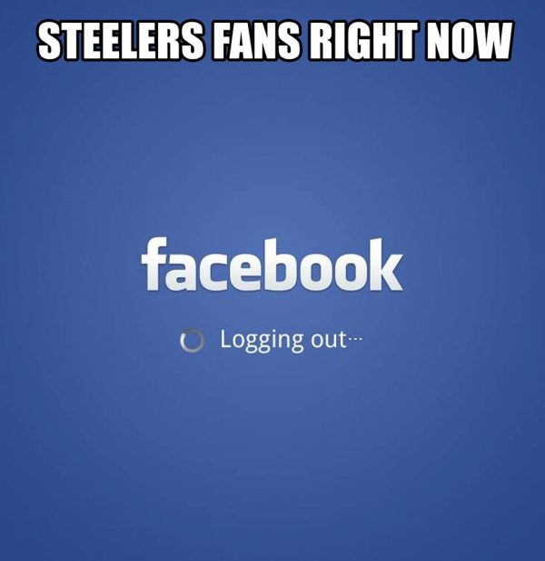 Steelers Fans logging out