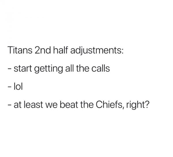 Titans 2nd half adjustments