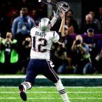 Brady dropping the Super Bowl
