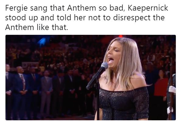 Fergie Colin Kaepernick