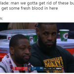 LeBron backstabbing Wade