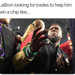LeBron looking for trades
