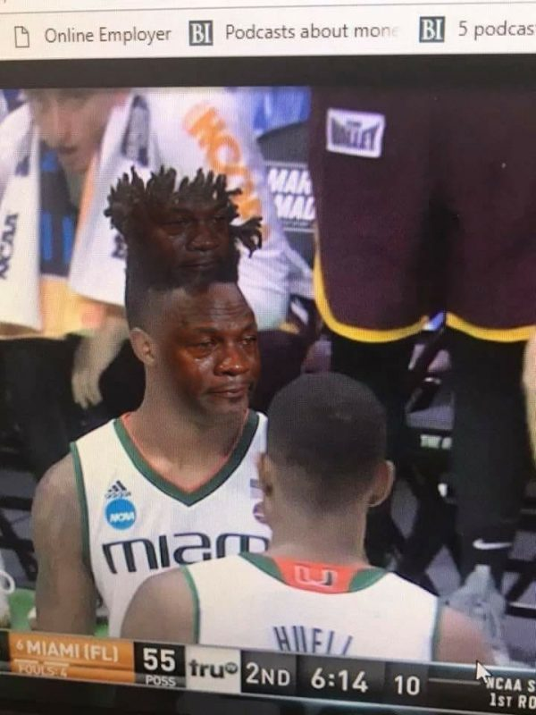 Miami Player Hair Crying Jordan