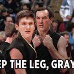 Sweep the leg Grayson