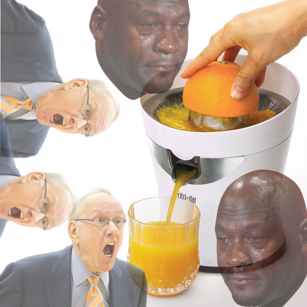 Syracuse Boeheim orange juice