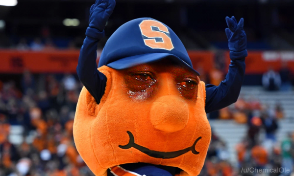 Syracuse Mascot Crying Jordan