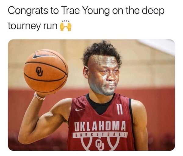 Trae Young Crying Jordan