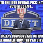 Cowboys Draft Joke