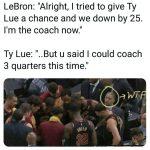 Coach Lue thrown out