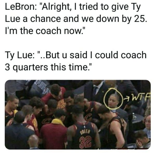 Coach Lue thrown out
