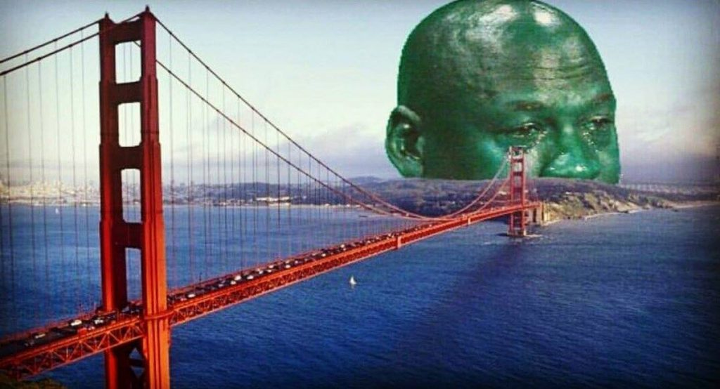 GG Bridge Crying Jordan