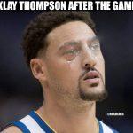 Klay Thompson Crying Jordan