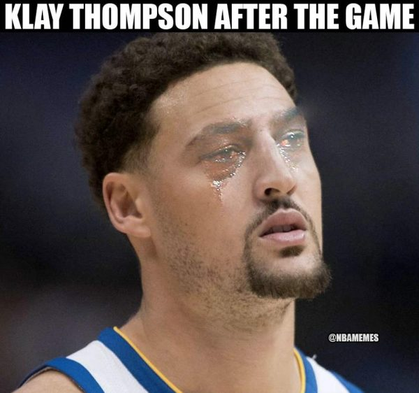 Klay Thompson Crying Jordan