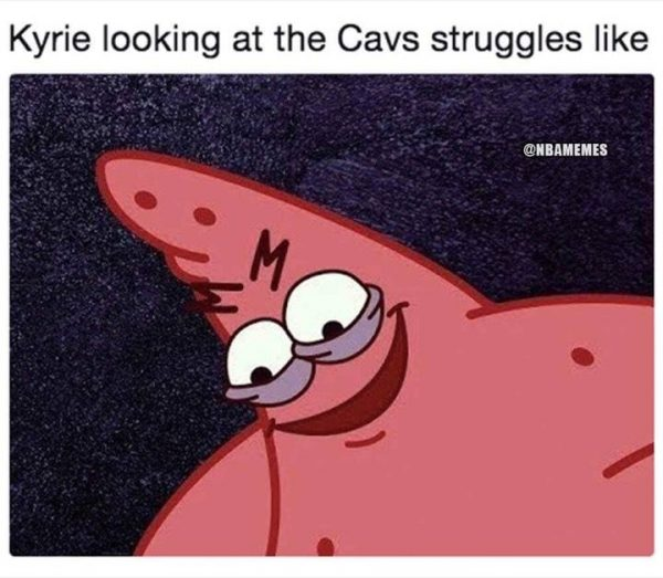 Kyrie Smiling Cavs Lose