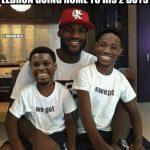 Lebron's sons