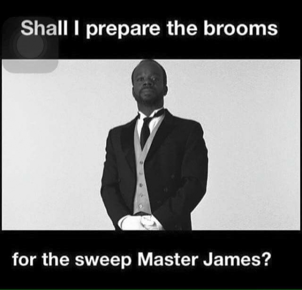 Prepare the Broom Master James