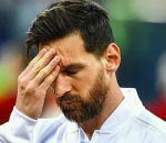 Messi Worried Face