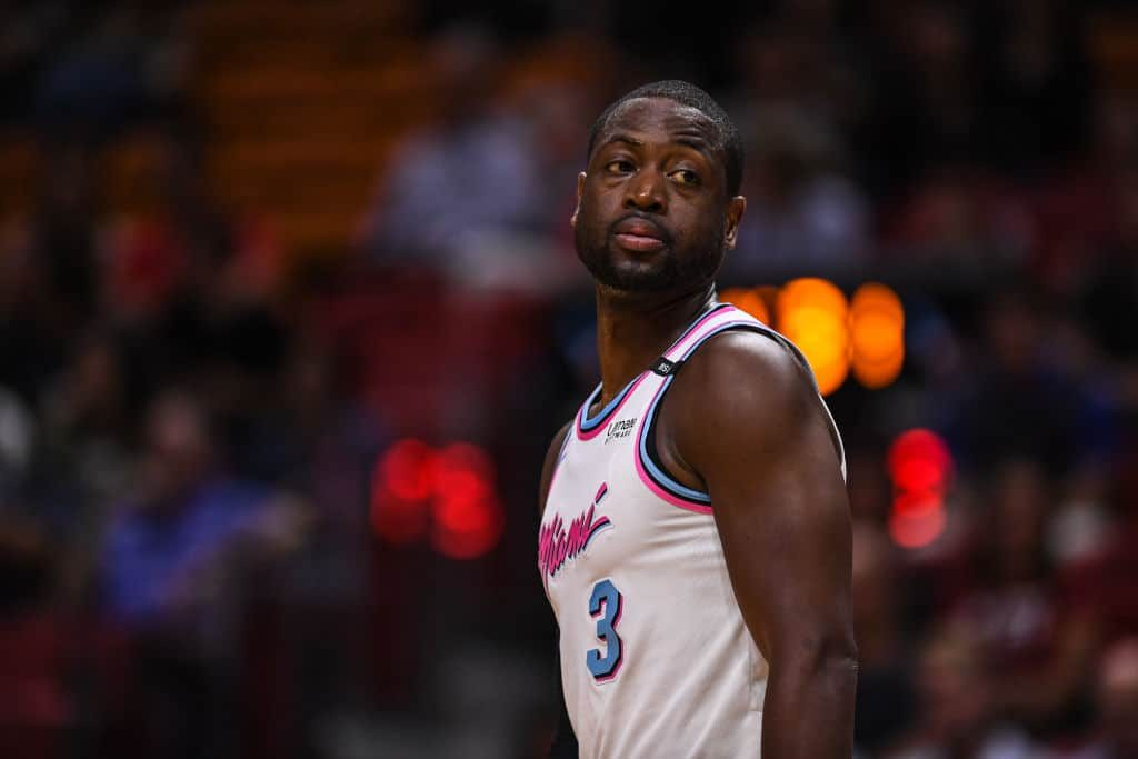Dwyane Wade in Retro Miami Jersey