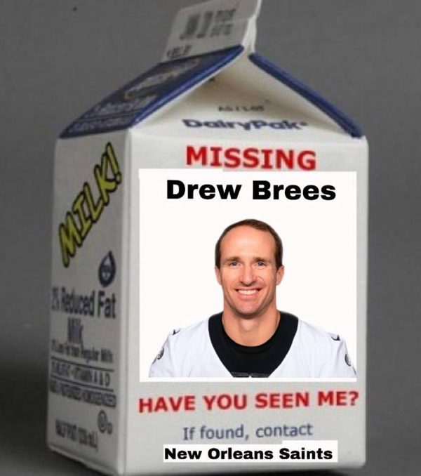 Drew Brees missing