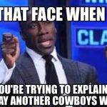 Shannon Sharpe Cowboys Win