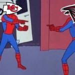 Chiefs Falcons Spiderman