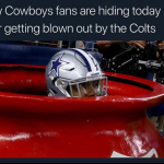 Cowboys fans in hiding