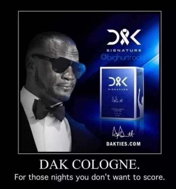 Dak Cologne Crying Jordan