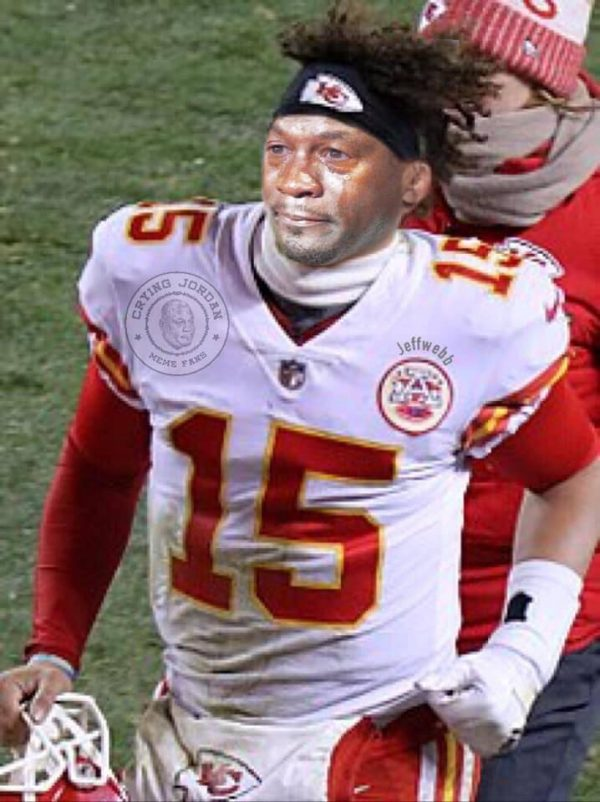 Mahomes Crying Jordan