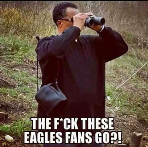 No sight of Eagles Fans