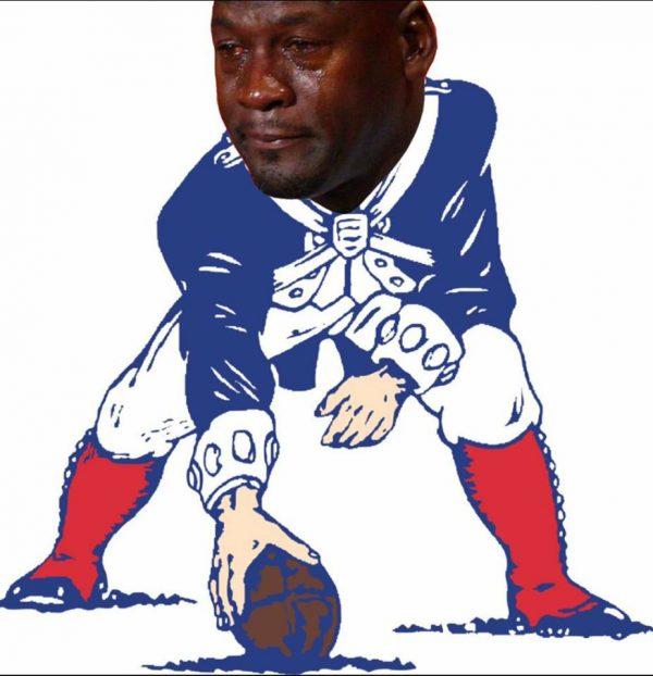 Patriots Logo Crying Jordan