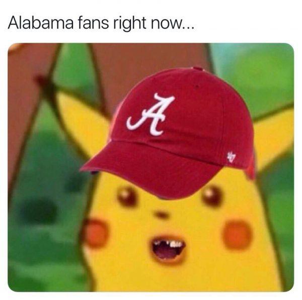 Alabama Fans Stunned Pikachu