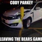 Cody Parkey Bad Driver