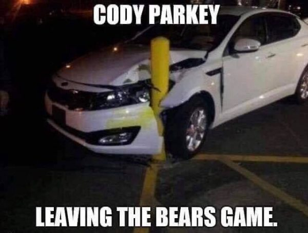 Cody Parkey Bad Driver