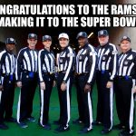 Congrats to the Rams
