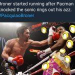 Pacquiao hitting Broner