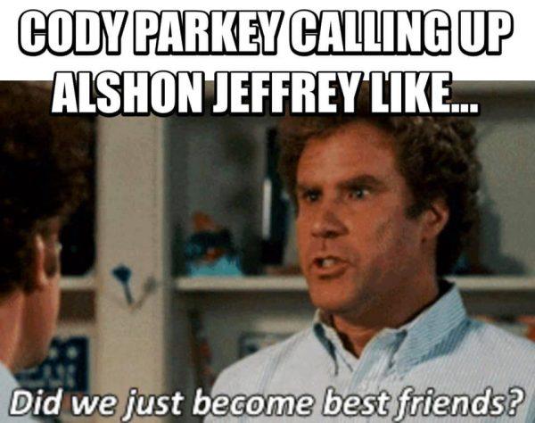 Parkey to Jeffery Best Friends