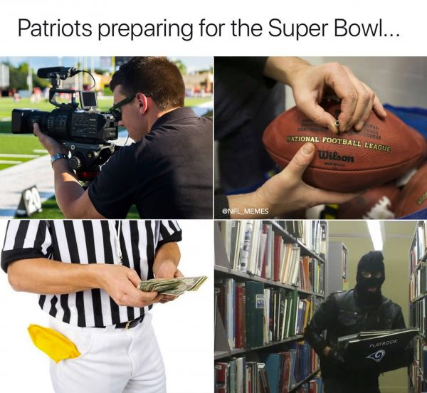 Pats Prepping for the Super Bowl