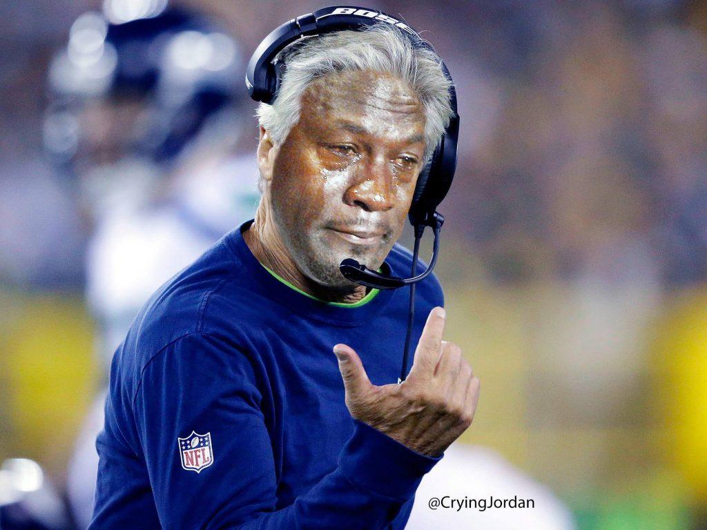 Pete Carroll Crying Jordan