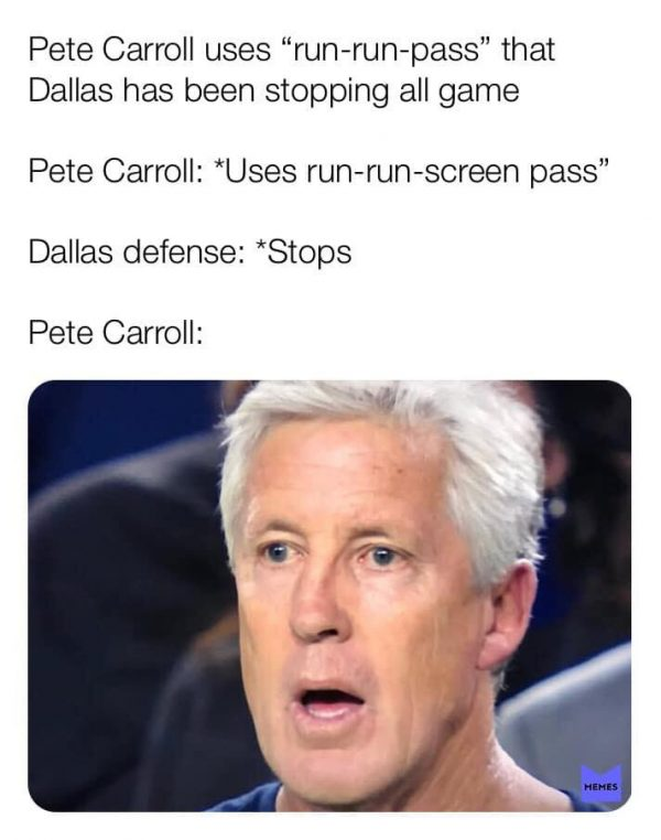 Pete Carroll Stunned