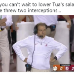 Saban Punishing Tua