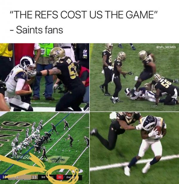 Image result for saints rams meme