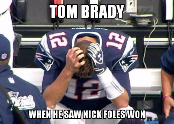 TOm Brady hates Foles