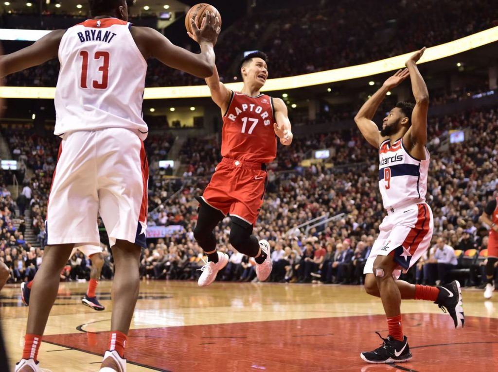 Jeremy Lin Raptors Debut