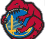 Raptors Eating the Warriors Logo