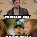 Aaron Rodgers Week 1 vs Week 4