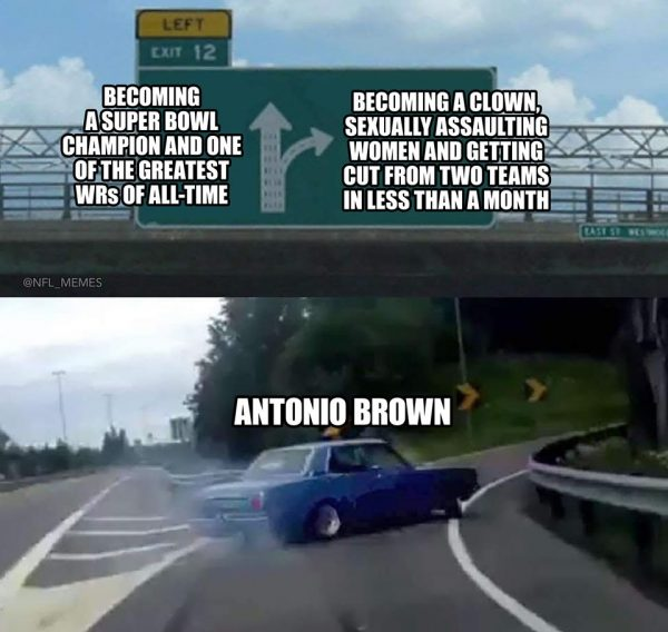 Antonio Brown Taking Wrong Turn